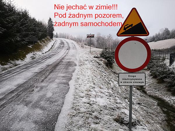 Droga zamknięta Banica Beskid Niski