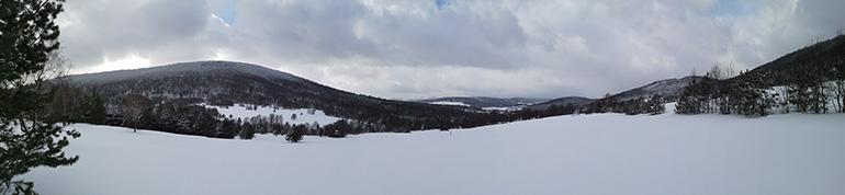 Lackowa Beskid Niski Zima